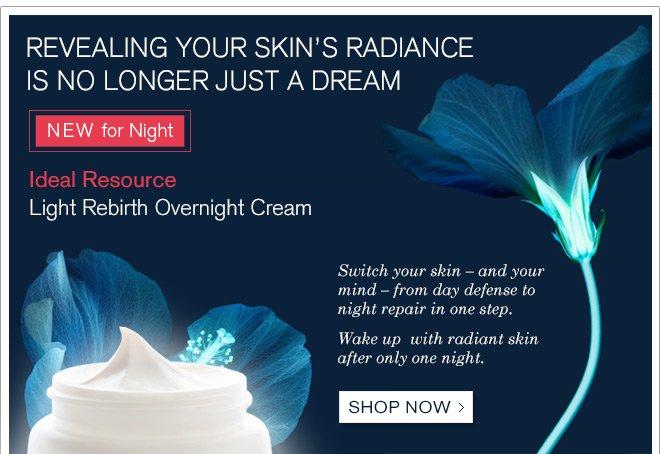 NEW Ideal resource Light Rebirth Overnight Cream