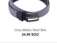 Grey Wool Belt