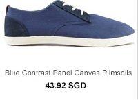 Blue Canvas Plimsolls