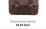 Brown Buckle Satchel