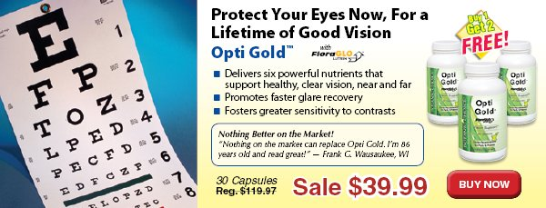 Opti Gold™ Vision Formula - Buy 1 Bottle, Get 2 Free