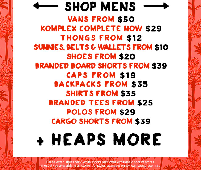 Mens One Day Sale