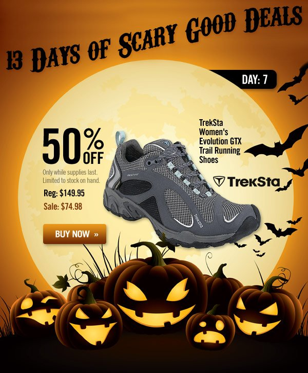 13 Days of Scary Good Deals - Day 7: Women's Evolution GTX Trail Running Shoes