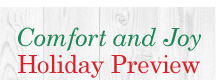 Comfort and Joy Holiday Preview