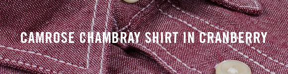 CAMROSE CHAMBRAY SHIRT IN CRANBERRY