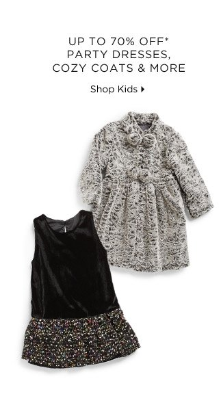 Up To 70% Off* Party Dresses, Cozy Coats & More