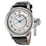Invicta 14076 Men's Russian Diver Silver Bezel Silver Dial Leather Strap Watch