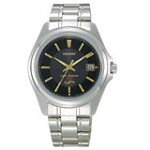 Orient PVD09001B Men's Black Dial Stainless Steel Solar Cell Energy Watch