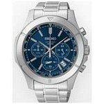 Seiko SSB103 Men's Chronograph Blue Dial Stainless Steel Bracelet Quartz Watch
