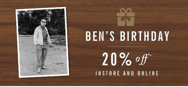 Ben's Birthday