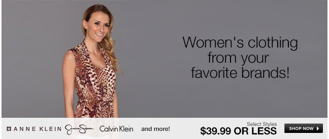 Women's clothing from your favorite brands!