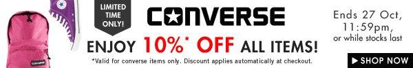 Enjoy 10% off Converse