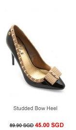 BLINK Studded Bow Heel
