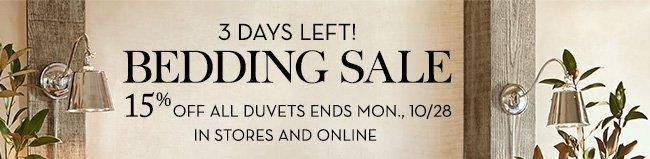 3 DAYS LEFT! BEDDING SALE