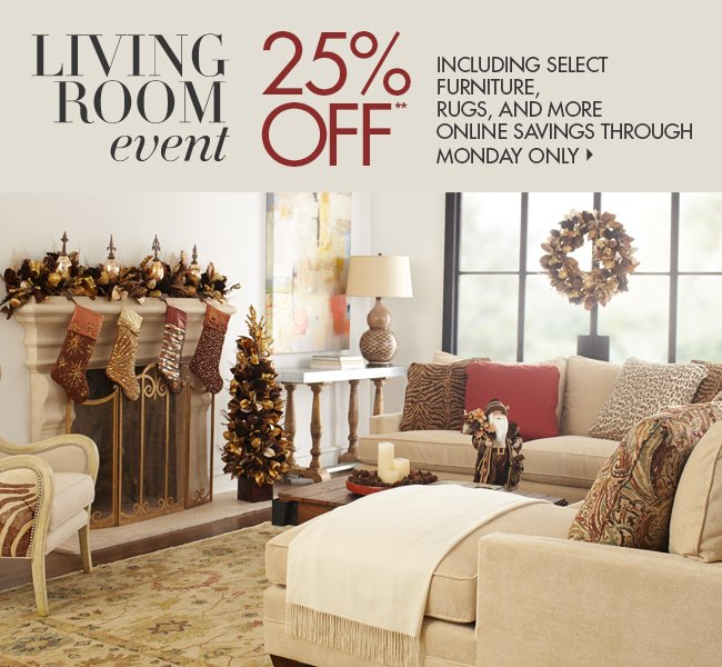 25% OFF Living Room Event!