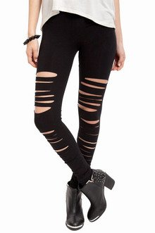 FRONT SLASHED LEGGINGS 20