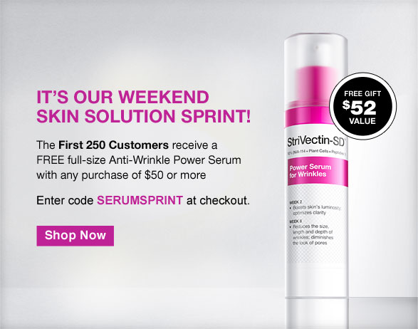 It's our Weekend Skin Solution Sprint!
