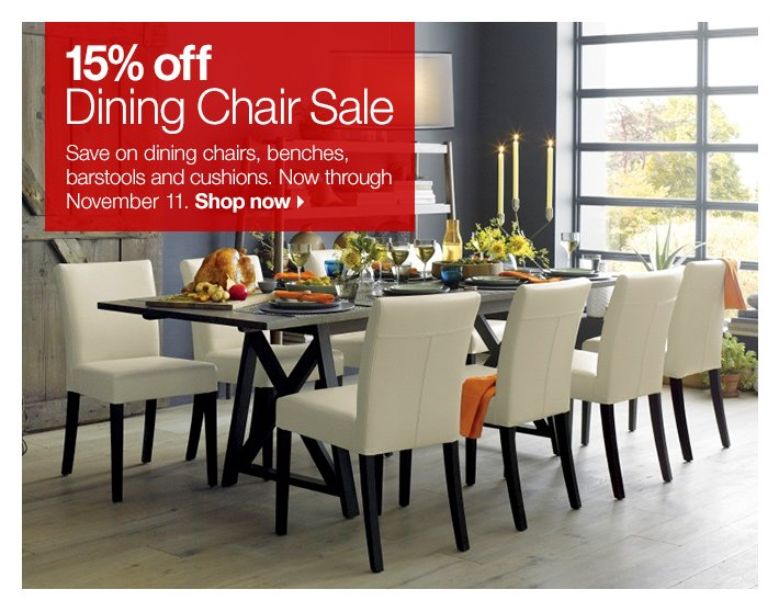 15% off Dining Chair Sale