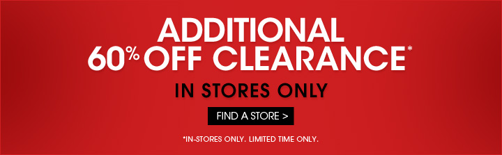 Additional 60% OFF Clearance