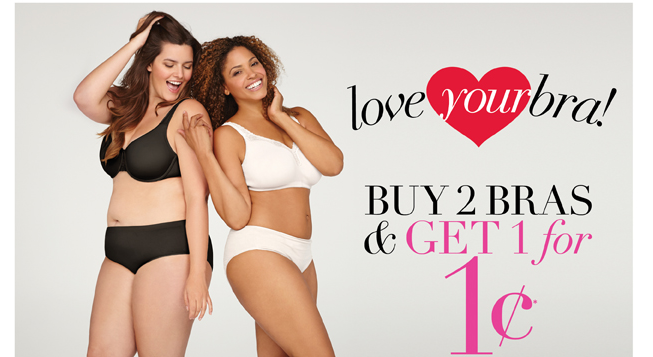 Buy 2 Bras & Get 1 For 1 Cent*