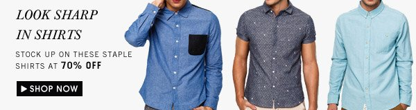 Shirts up to 70% off