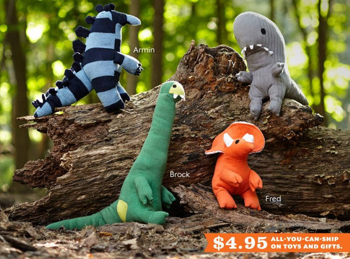 Walk  with the Plush-a-Saurs.