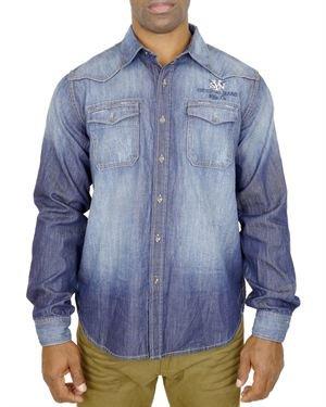 Syn Jeans Pocket Detail Faded Denim Shirt