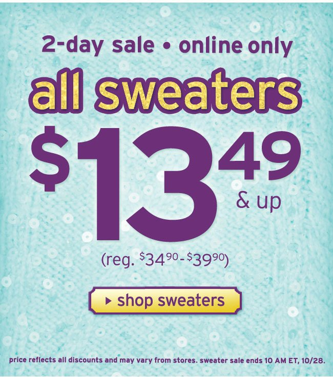 2-day sweater sale