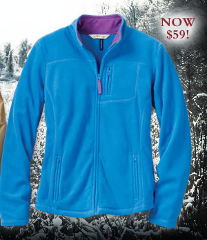Women's Passport Fleece Jacket. Was $79, NOW $59