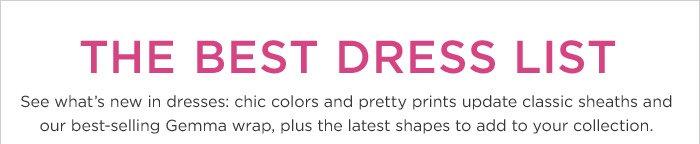 THE BEST DRESS LIST