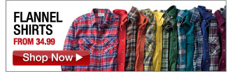 flannel shirts from 34.99 - click the link below