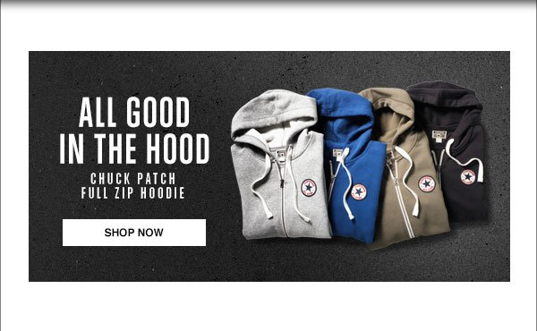 ALL GOOD IN THE HOOD - CHUCK PATCH FUL ZIP HOODIE