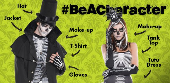 This Halloween... don't just be a costume #BeACharacter