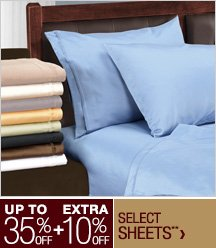 Up to 35% off + Extra 10% off Select Sheets**