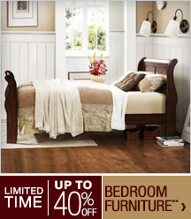 Limited Time - Up to 40% off Bedroom Furniture**