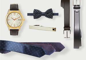 For Evening: Belts, Ties & More