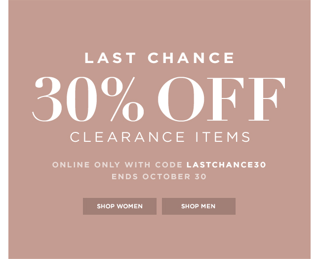 Take An Extra 30% Off Clearance Now!