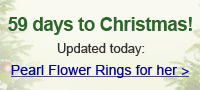 Pearl Flower Rings for her