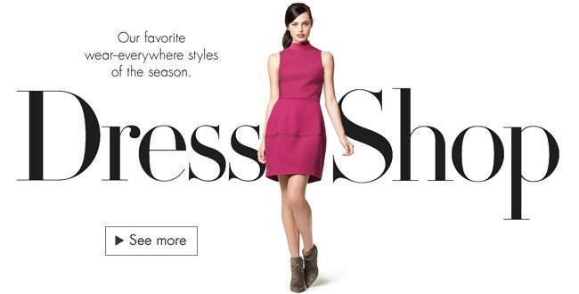 Check out the latest must-see dresses, including party picks, sweater styles, and more.