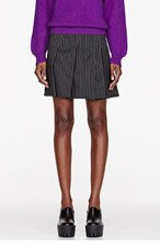 STELLA MCCARTNEY Charcoal pinstripe Tailored Valencia Skirt for women