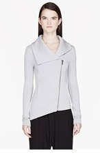 HELMUT HELMUT LANG Grey Villous Zipup Sweatshirt for women