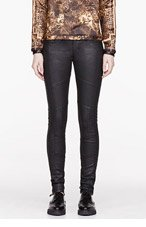 CURRENT/ELLIOTT Black Coated Sweeney Skinny Jeans for women