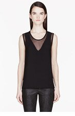 HELMUT HELMUT LANG Black Mesh Insert Nexa Top for women