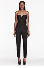 STELLA MCCARTNEY Black All-In-One Tex Jacquard Zelda Jumpsuit for women