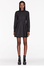 STELLA MCCARTNEY Charcoal pinstripe Leila Tailored Dress for women