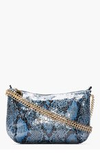 STELLA MCCARTNEY Blue Python Bailey Boo Cross-Body Bag for women