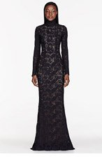 ZUHAIR MURAD Navy lace pillar dress for women