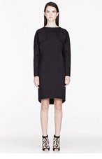 KENZO Black Neoprene quilted-sleeve Dress for women