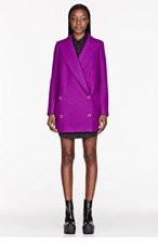 STELLA MCCARTNEY Purple Felted wool Edith Coat for women