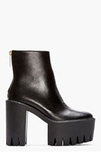 STELLA MCCARTNEY Black Platform Ankle Boots for women